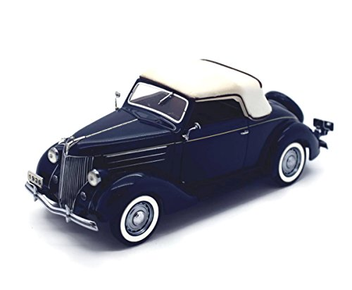 DANBURY MINT 1936 Ford Deluxe Cabriolet Diecast 1:24 Scale Blue