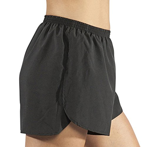 BOA Women's 2.5 Split Trainer Running Short(1201B) (BLK, large) ()