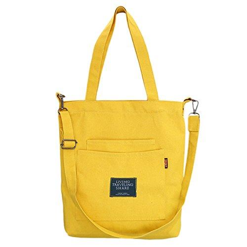 Fanspack Women's Canvas Tote Handbags Casual Top Handle Bag Crossbody Shoulder Bag Purse (Body Cross Shopper)