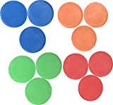 Flat Cones Spot Markers Soccer Basketball Sports Speed Agility Training (Set of 12)