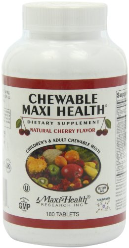 Multivitaminas masticables Maxi salud y minerales - sabor cereza - 180 Chewies - Kosher