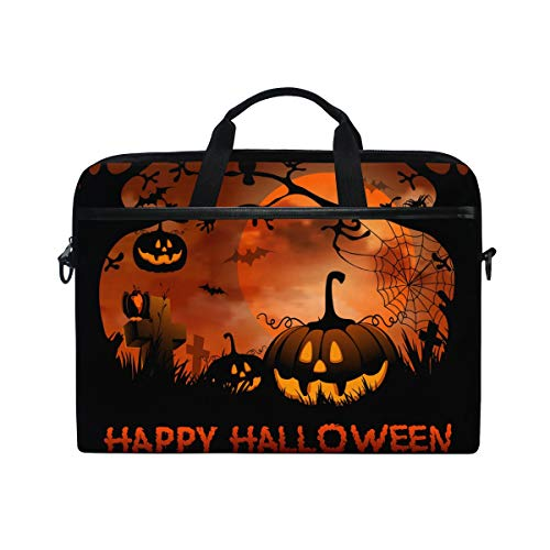 JOYPRINT Laptop Sleeve Case, Halloween Moon Night Pumpkin