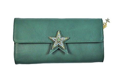 Borsa donna Collezione Argento Antico by Laino Industry fashion accessories - Borsa in pelle con chiusura a stella