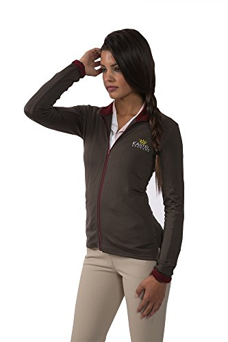 Kastel Denmark Mid-Weight Fleece Jacket (X-Small, Grey with Maroon)