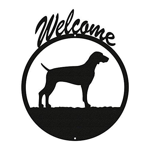 WEIMARANER Black Metal Welcome Sign ~NEW~
