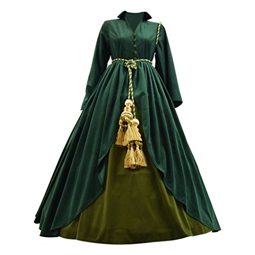 Xiao Maomi Womens Cosplay Costume Halloween Long Dress Party Skirt Girls (S, Picture Color) -
