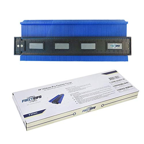 FIRSTINFO Profile Contour Gauge Duplicator 10 Inch with Magnet for Auto Body Repair with Protective Storage Color Box ()