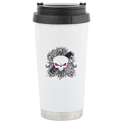 [CafePress - Hairdresser Pirate Skull Stainless Steel Travel Mu - Stainless Steel Travel Mug, Insulated 16 oz. Coffee] (Pirate Hair)