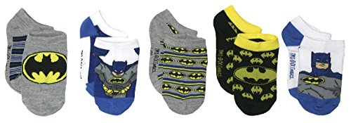 Boys Batman 5 Pack Socks (S (6-10.5), Multi)