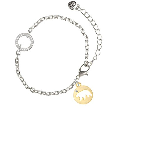 Delight Jewelry Goldtone Bear Silhouette - Fearless Strong Brave Ring Zoe Bracelet, 8