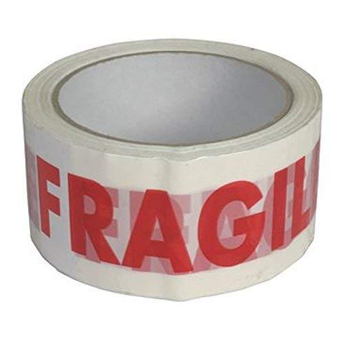 Nastro Dimballaggio Fragile Da 48 mm x 66 m 6 Convenienti /& Facili Per Rivolgersi di Rotoli Per Sigillo Forte Sicuro /& Appiccicoso Per Pacchetti /& Scatole
