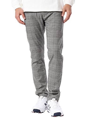 (ガッチャ ゴルフ) GOTCHA GOLF ロングパンツ オールシーズン ストレッチ グレンチェック パンツ 99GG1801 ブラック Sサイズ