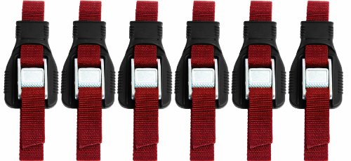 Cheap Riverside Cartop Carriers HD Utility Straps (6-Pack) with Backpack, Red, 9-Feet