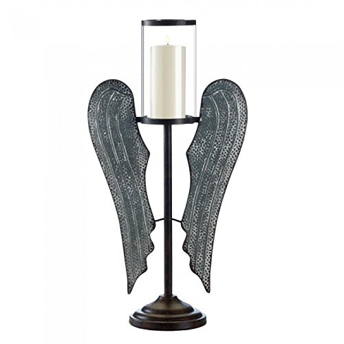 Candle Angel Wing (ANGEL WINGS FARMHOUSE CANDLE HOLDER)