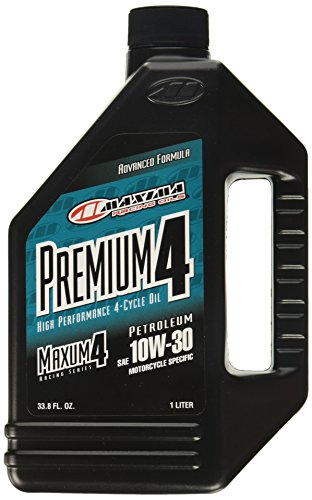 Maxima 30-20901 Premium 4 10w30 Motorcycle Engine Oil, 1 fl. oz, 1 Pack (Motorcycle Wet Clutch)