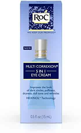 RoC Multi Correxion 5 in 1 Eye Cream, Anti-Aging Treatment Made with Hexinol Technology, .5 fl. oz