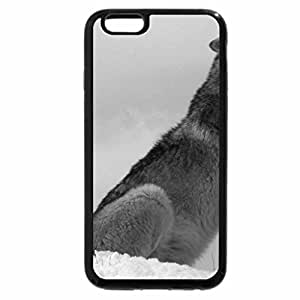iPhone 6S Plus Case, iPhone 6 Plus Case (Black & White) - Howling