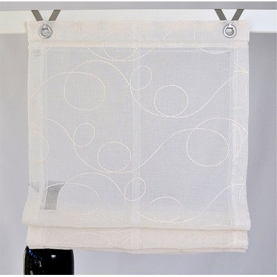 Jasmin Stick - Tenda a pacchetto con occhielli, 45/60/80/100/120 x 130 cm, disponibile anche su misura, Tessuto, crema, ca. 80 * 130 cm Rollos & More