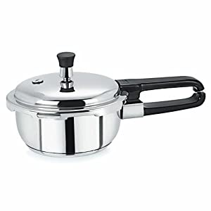 Pristine Induction Base Stainless Steel Pressure Cooker, 1.5 litres, 1 Piece, Silver