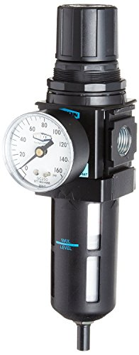 Dixon B18-04AG Automatic Drain Wilkerson Compact Filter/Regulator with Transparent Bowl and Guard, 1/2'' Size, 121 SCFM Flow, 150 psig Pressure by Dixon Valve & Coupling