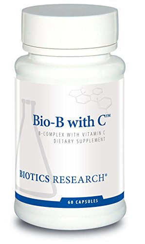Biotics Research Bio-B with C™ - High Potency B-Complex with Buffered Vitamin C. Boost Energy Levels, Supports Nervous System. Contains Inositol, Choline, L-Lysine, Pancrelipase, Probiotic Complex, Gl