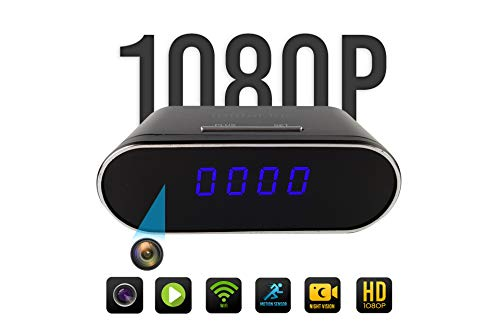 Clock Camera | Hidden Camera Clock | Spy Camera Clock | WiFi 1080P Video Recorder Wireless IP Camera for Indoor Home Security Monitoring Night Vision Nanny Cam 120°Angle Motion Detection Review