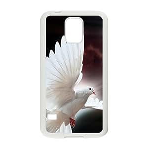 Shining Pure White Bird Custom Protective Hard Phone Cae For Samsung Galaxy S5