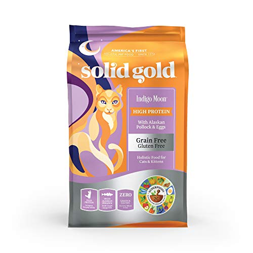 Solid Gold High Protein Dry Cat Food; Indigo Moon With Real Alaskan Pollock