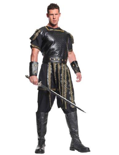 Costume 300 Men For (Underwraps Men's Plus-Size Roman Warrior, Black/Gold,)