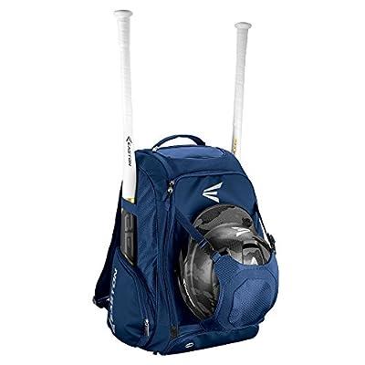 EASTON WALK-OFF IV Bat & Equipment Backpack Bag | Baseball Softball | 2019 | Black | 2 Bat Sleeves | Vented Shoe Pocket | External Helmet Holder | 2 Side Pockets | Valuables Pocket | Fence Hook