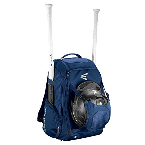 EASTON WALK-OFF IV Bat & Equipment Backpack Bag | Baseball Softball | 2019 | Navy | 2 Bat Sleeves | Vented Shoe Pocket | External Helmet Holder | 2 Side Pockets | Valuables Pocket | Fence Hook