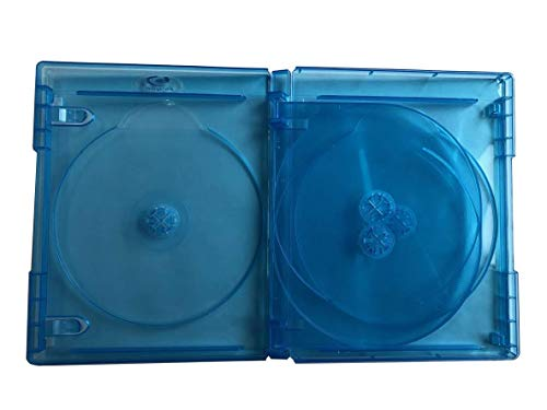 New MegaDisc 15mm Blu-ray Replacement Case Holds 4 Discs 5 Pack (4 Tray) Premium