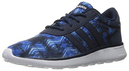 adidas NEO Women's Lite Racer w Running Shoe, Collegiate Navy/Collegiate Navy/White, 9.5 M US by adidas