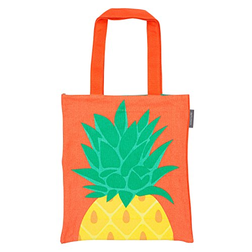 Sunnylife Cotton Canvas Open Tote Beach Bag Carry All - Pineapple ()