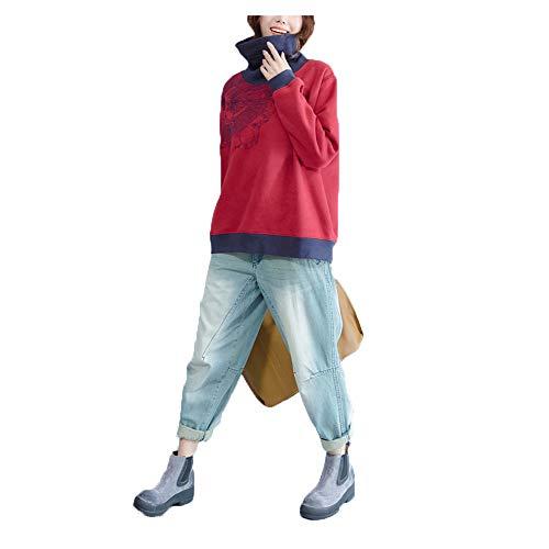 shirt Green en Automne Size Red Wild hiver vrac Plus Nouveau et Wind Color T dcontract L RwnxqESp