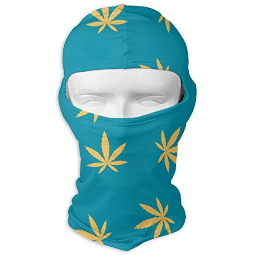 UV Protection Face Mask for Cycling Outdoor Sports Full Face Masks Marijuana Leaves Blue Balaclava Hood Skullies -