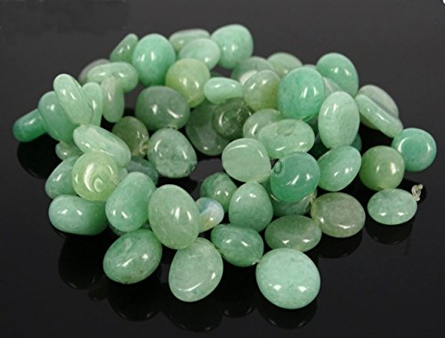 AAA Natural Green Aventurine Gemstones Smooth Teardrop Loose Beads Free-form ~18x10mm beads ( ~16
