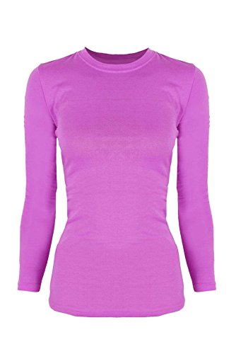 G2 Chic Women's Long Sleeve Crewneck Layer T-shirt for Medical Scrubs(TOP-MED,FCH-S)