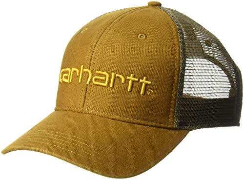 Embroidered Carhartt Visor - Carhartt Men's Dunmore Cap, Oiled Walnut, OFA