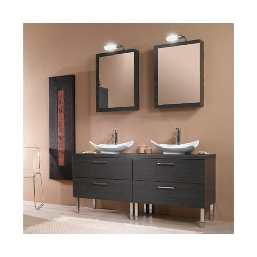 Iotti Iotti A17-Grey Oak-637509931155 Aurora Collection Bathroom Vanity, Grey Oak - Iotti Aurora Collection