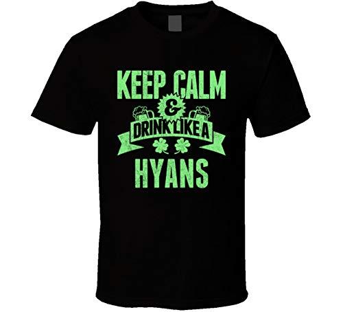 Hyans Keep Calm Drink Like Beer Irish Name St Patricks Day T Shirt L Black from Tshirtshark