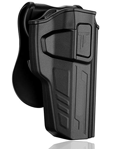 Beretta 92 FS Holster Gen3, Outside the Waistband Concealed Carry Holsters Fit Beretta 92 92FS GSG92, Girsan Regard MC, Taurus PT92, Polymer Belt Pistol Holster with 360° Adjustable Paddle, Right Hand