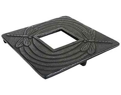 Fuji Merchandise Square Dragonfly Cast Iron Teapot Trivet Black #TB22