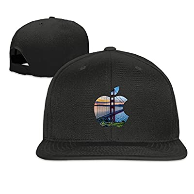 Custom Unisex-Adult San Francisco California Apple Adjustable Hiphop Caps Black