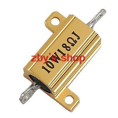 Generic Screw Tabs 5% 18 Ohm 10W Aluminum Resistor Resistance by Generic