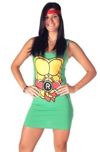 [Teenage Mutant Ninja Turtles Dress TMNT Raphael Red Tank Medium] (Red Ninja Turtle Costumes)