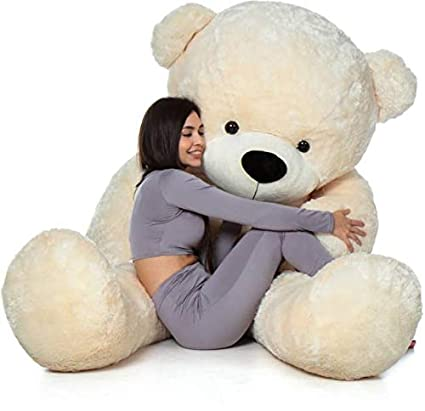 Prime Teddy Lovable Hugable Soft Teddy Bear for Kids & Girls Special Gift for Birthday /Anniversar and Valentine (Light Cream, 5 Feet)