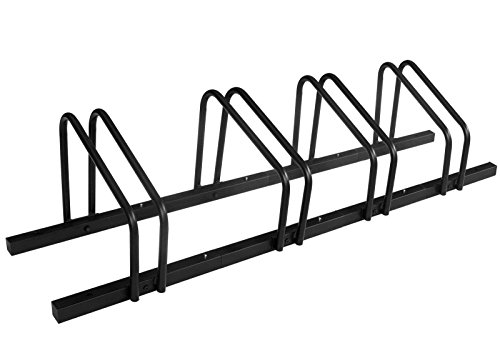 1 - 4 Bike Floor Parking Rack Storage Stand Bicycle by CyclingDeal