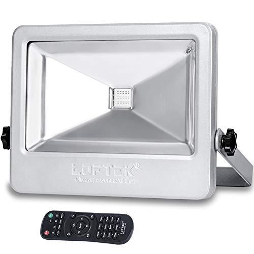 LOFTEK NOVA PLUS 50W Timing RGB Flood Light,6 Levels of Adjustable Brightness Floodlight,16-color RGB Lighting Outdoor Waterproof IP66 Spotlight with Auto Shut-off Silver Review