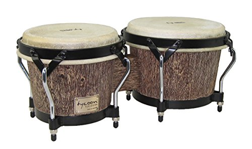 Tycoon Percussion STBS-B IP 7 and 8-1/2 Inches Supremo Series Bongos, Island Palm Finish by Tycoon Percussion